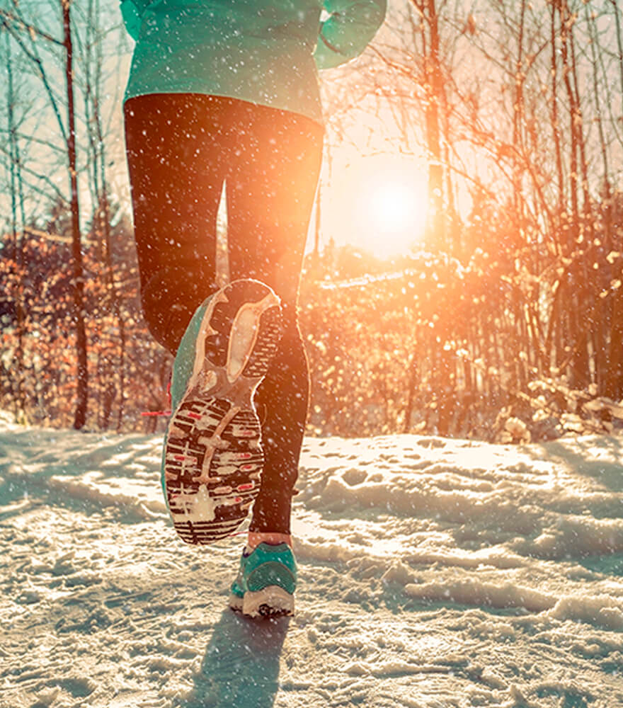 Exercising outdoors in winter